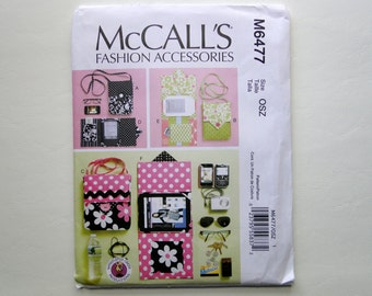 McCall's Sewing Pattern 6477 - Electronic Device Holder - Device Carrying Case - E-Reader Cover - Cell Phone Case - Camera Case
