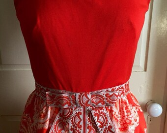 Bright Maxi Dress w/matching Hot Pants