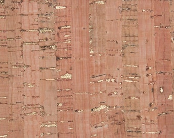 Natural Cork Fabric - Natural with Gold