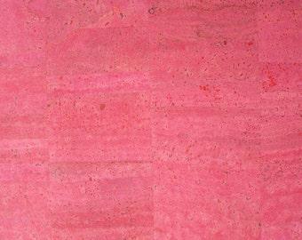 Natural Cork Fabric - Pink