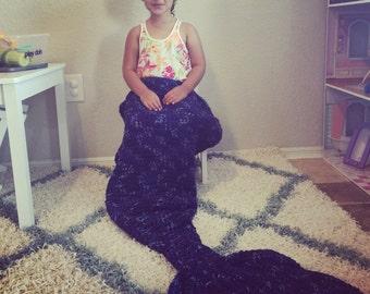 Mermaid Tail Crochet Blanket Custom (Preschool/Child/Adult Sizes)