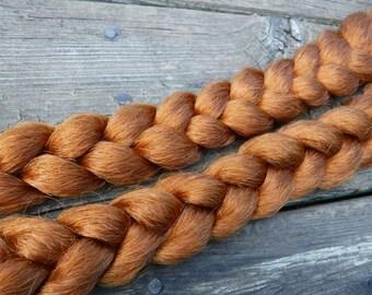 Natural Orange Clip on Braid(s)