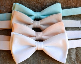 Bow tie for men, mint wedding bow tie, mint bow tie, bow tie,pastel color bow ties,mens bow ties and ties,ivory tie,peach blush,beige