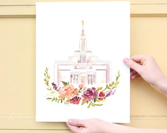 LDS Temple Watercolor (Draper), Draper Temple