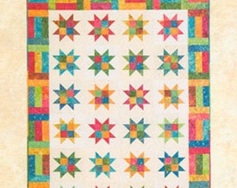 Atkinson Design Stars & Strips Jelly Roll or Fat Quarter Friendly Quilt Pattern