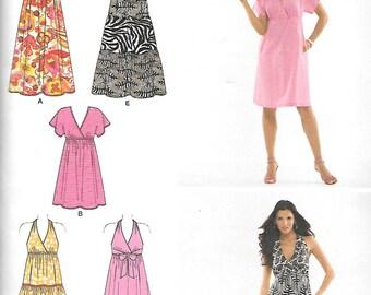Simplicity Pattern 2642 HALTER DRESSES & More Misses 14 16 18 20 22