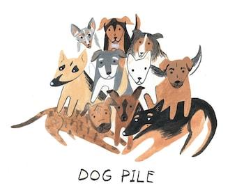 Cute dog print, cute dog art, dog print, dog illustration, puppies, puppy print, nursury art, cute dogs, cute dog print, cute puppy art