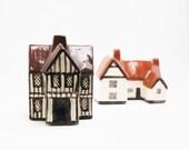 Mudlen End Studio Miniature Houses Hand Painted- Felsham Suffolk, Vintage 1960-70's
