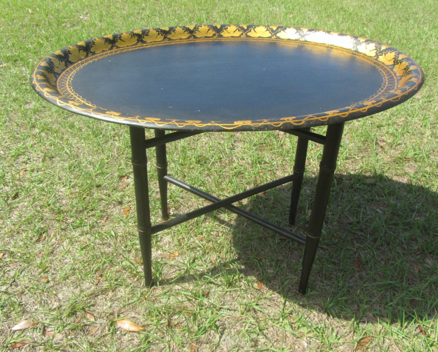 BUTLER TRAY STAND Serving Tray Metal Tray Table French