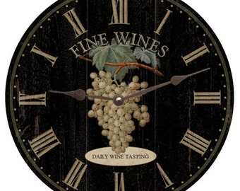 Wine Clock- Black Wine Clock