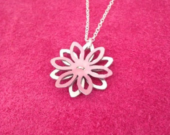 Stacked cut out flower necklace