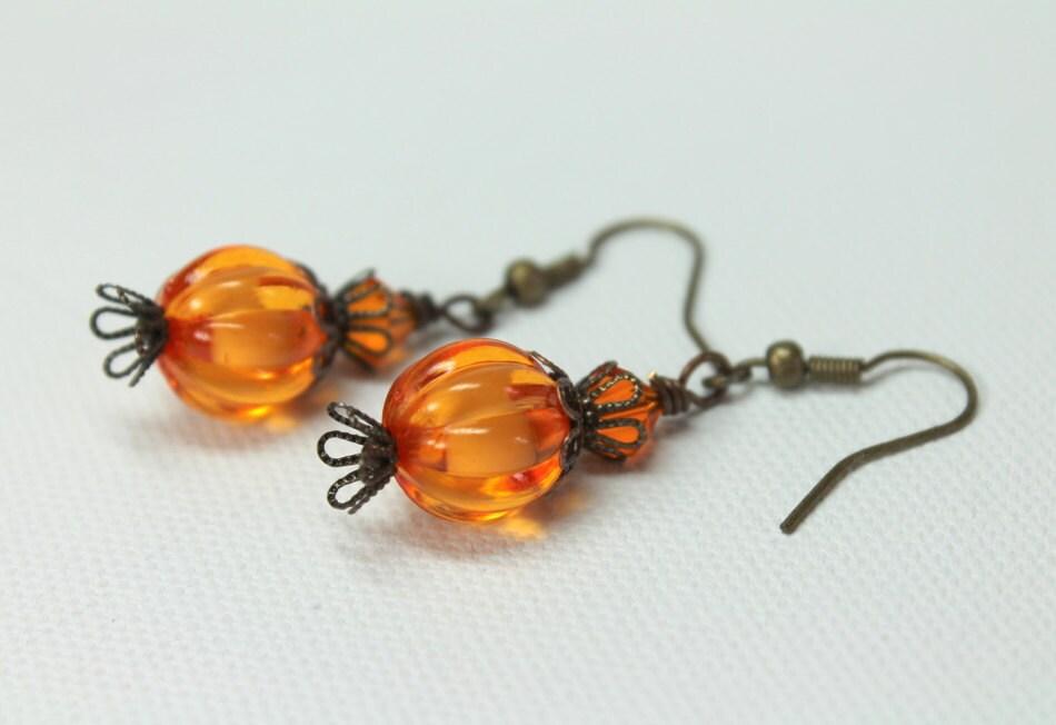 pumpkin earrings earrings earrings dangle