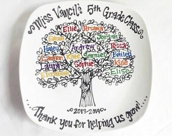 The Original Teachers Appreciation End of School Year Graduation Class Gift Class Tree Personalized Custom Name Plate