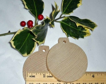 One Unfinished Wooden Ornament Blank DIY, Christmas Ornament