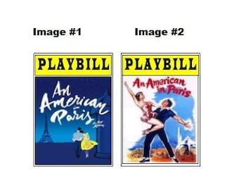 Theater / Show Charm - Playbill Play Bill - An American in Paris