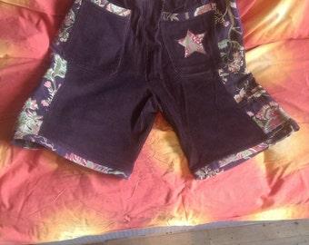 handmade corduroy shorts