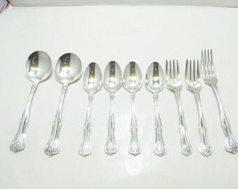 William 1880 Silverplate Flatware / Antique Silver Plate Lakewood Pattern Flatware
