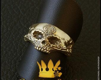 Sugar Skull Ring - 8K GOLD
