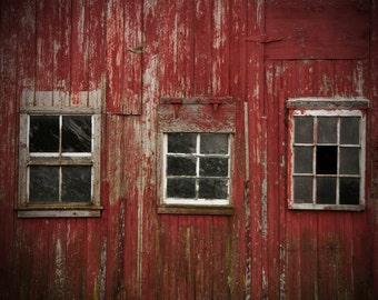 Red Barn Photo, Barn Windows, Old Barn Photos, Rustic, Farm Photos, Country Art