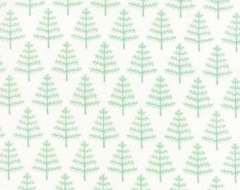Moda Christmas fabric by the yard - Moda Into the Woods fabric line - Moda Christmas tree fabric - #16130