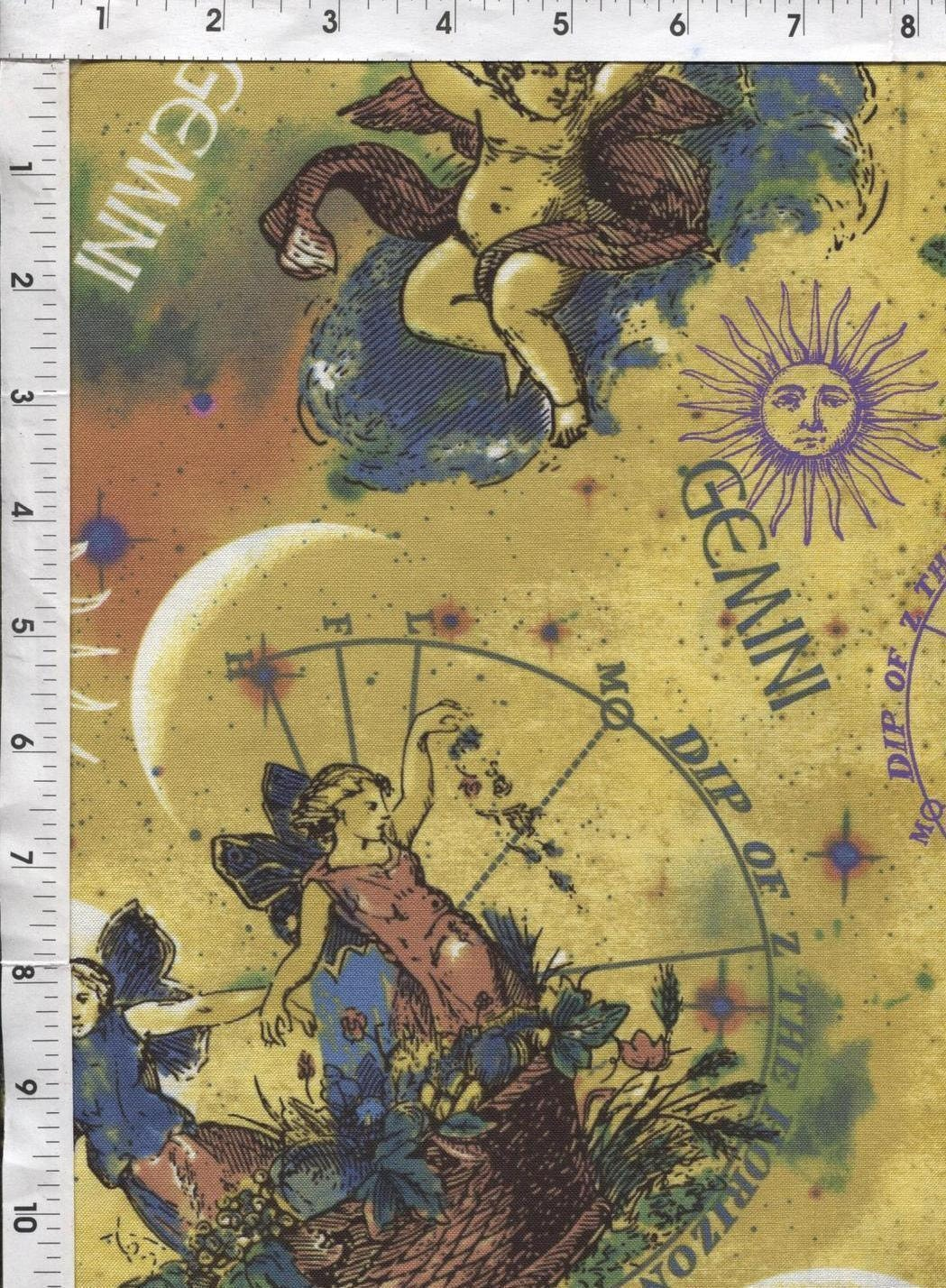 Gemini fabric by the yard astrology fabric horoscope for Astrology fabric