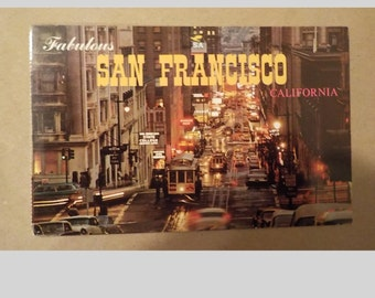 Vintage fabulous san francisco california Postcard Free Shipping