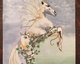 Fantasy Horse on Watercolour Original Art