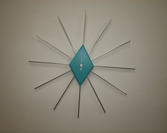 Retro Starburst Clock  (FREE SHIPPING)