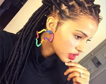Colorblock Earrings Afrocentric jewelryAfrican