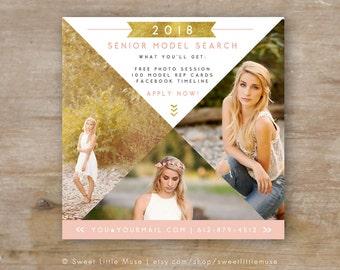 Senior Rep Template - Senior Photography Template, Senior Model Call, photography marketing template