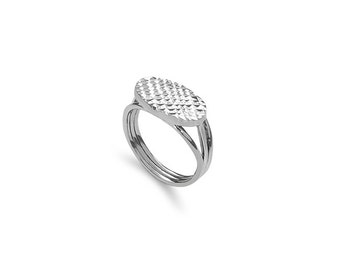 sterling silver fancy ring, sparkle ring, diamond cut ring,
