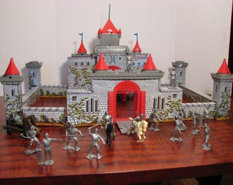 Vintage Marx Medieval Castle  Play Set