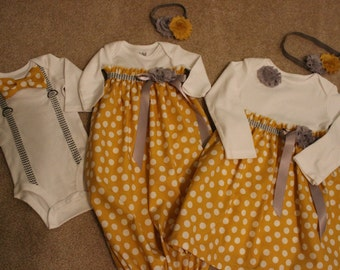 You choose Items,Matching boy girl outfits, Infant gown, Matching twins outfits, matching siblings outfit,Bowtie bodysuit,Baby dress,