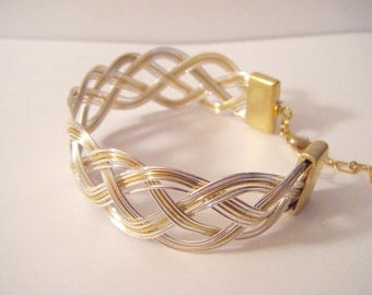 BRACELET BRAIDED GOLD SILVER