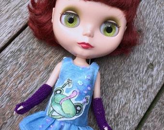 Denim dress for Blythe