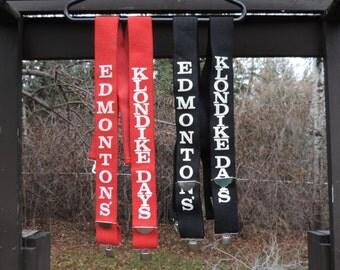 Vintage Edmonton Klondike Days Suspenders