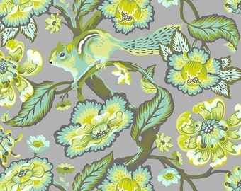 CHIPPER 1 yard by Tula Pink for Westminster fabrics Chipmunk Mint
