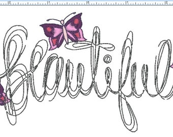 "BEAUTIFUL BUTTERFLIES 3""x6"" - Machine Embroidery File"