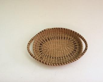 Vintage American Folk Art Gullah Oval Basket is True Americana