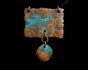 Copper Necklace  -  Tribal Patina