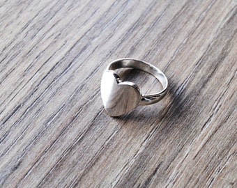 Ring for woman heart size silver plated 55; 8