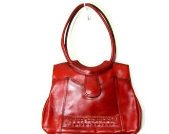 Vintage Leather Shoulder Purse Brown Leather Bag