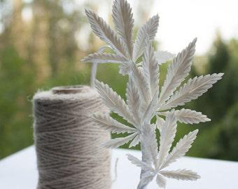 Cannabis headwreaths- Cannabis headpiece- wite headpiece - party headpiece - wedding headpiece