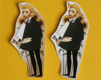 van gogh sticker (set of 1)