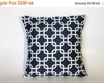 Navy Throw Pillow Covers - Navy Accent Pillow Cover - Navy Blue Accent Pillow Cover 0025