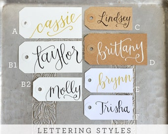Handwritten Calligraphy Personalized Name Tags by YourNewFriendSam