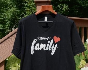 Adoption shirt, forever family shirt, adoption tshirt, shirt adoption, matching adoption, adoption matching, forever family tee