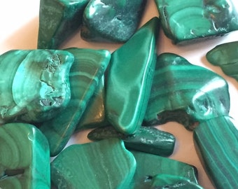Malachite Chips (Tumbled) - Blessed