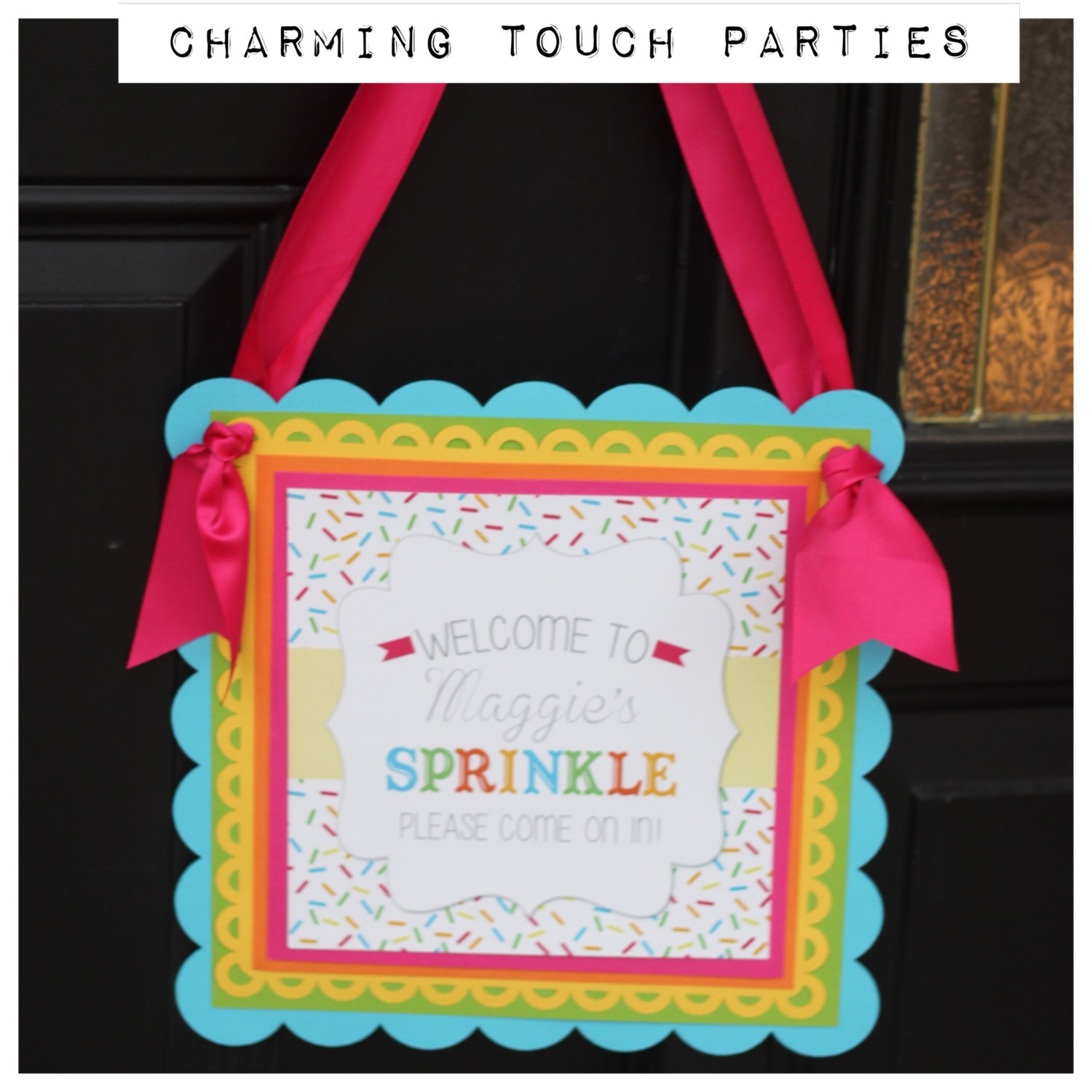 baby sprinkle baby shower welcome sign by charmingtouchparties