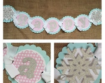 Winter ONEderland Banner, Winter Wonderland Birthday Banner, Winter Wonderland Party Banner, Winter Wonderland Party Decorations